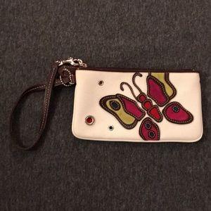Coach Butterfly cutout wristlet